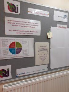 Improvement ideas whiteboard