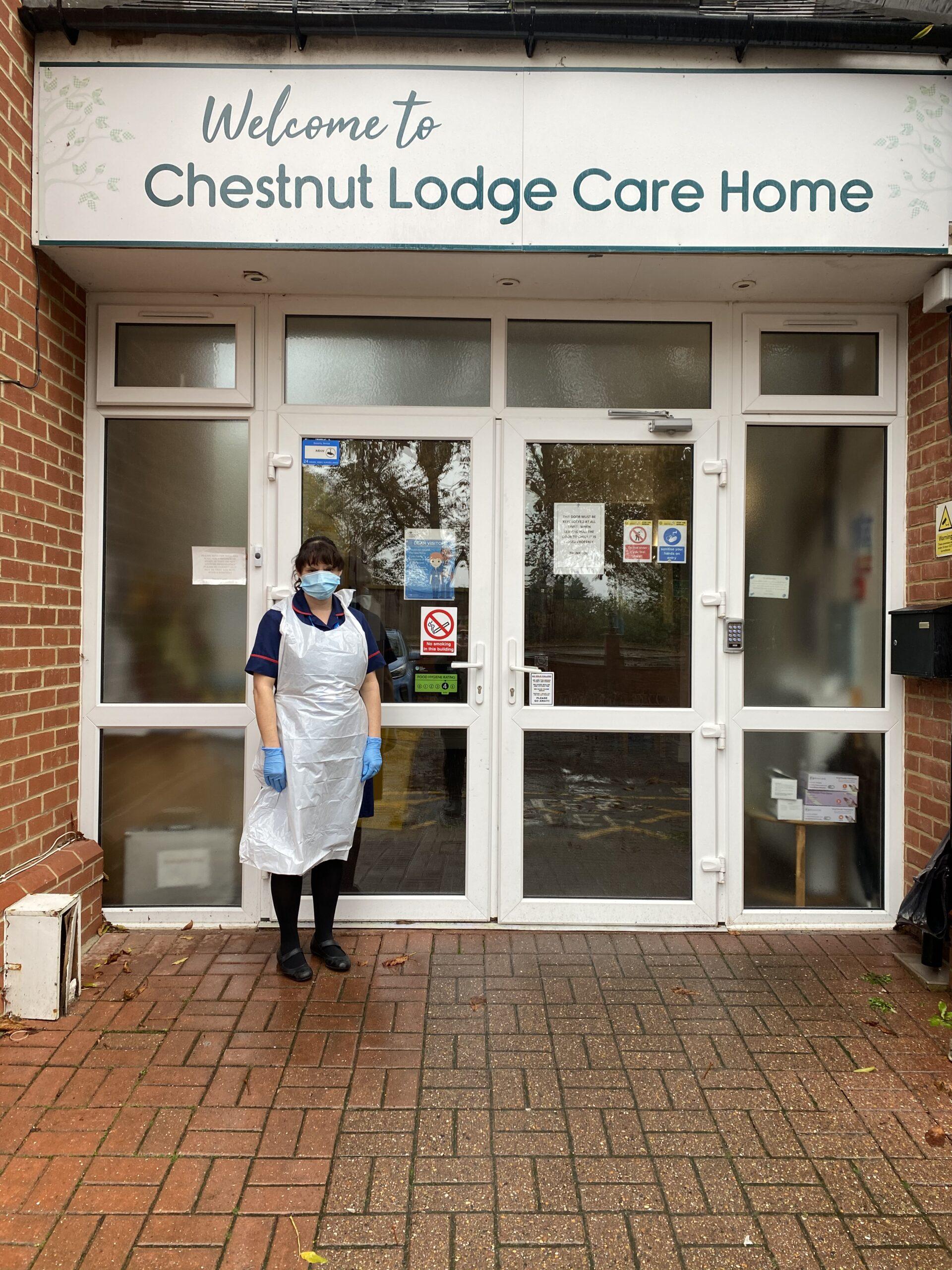Frailty complex care nurse Julie Rodi outside Chestnut Lodge