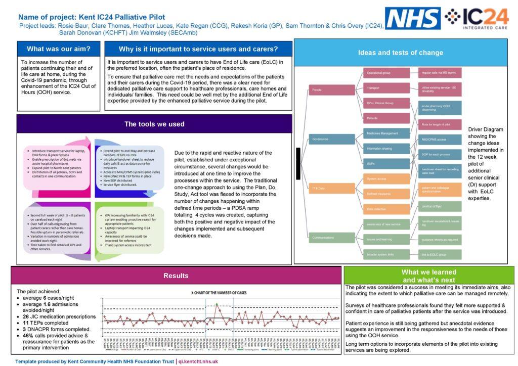 palliative pilot project on a page