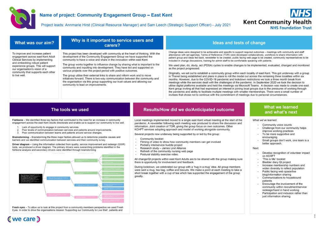 community engagement group project on a page
