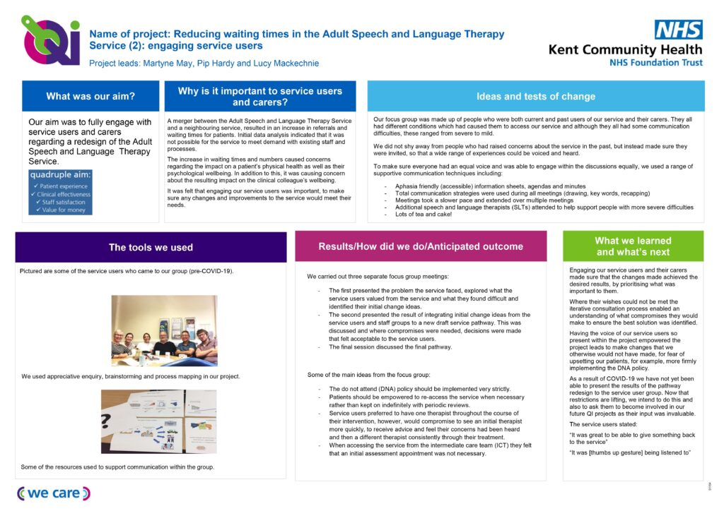 ASLT project on a page service user engagement
